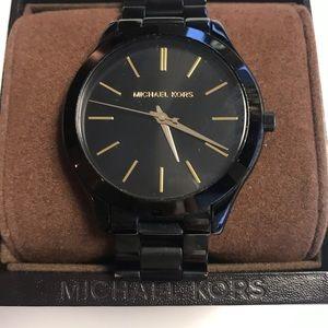 Michael Kors Slim Black Stainless Steel Watch